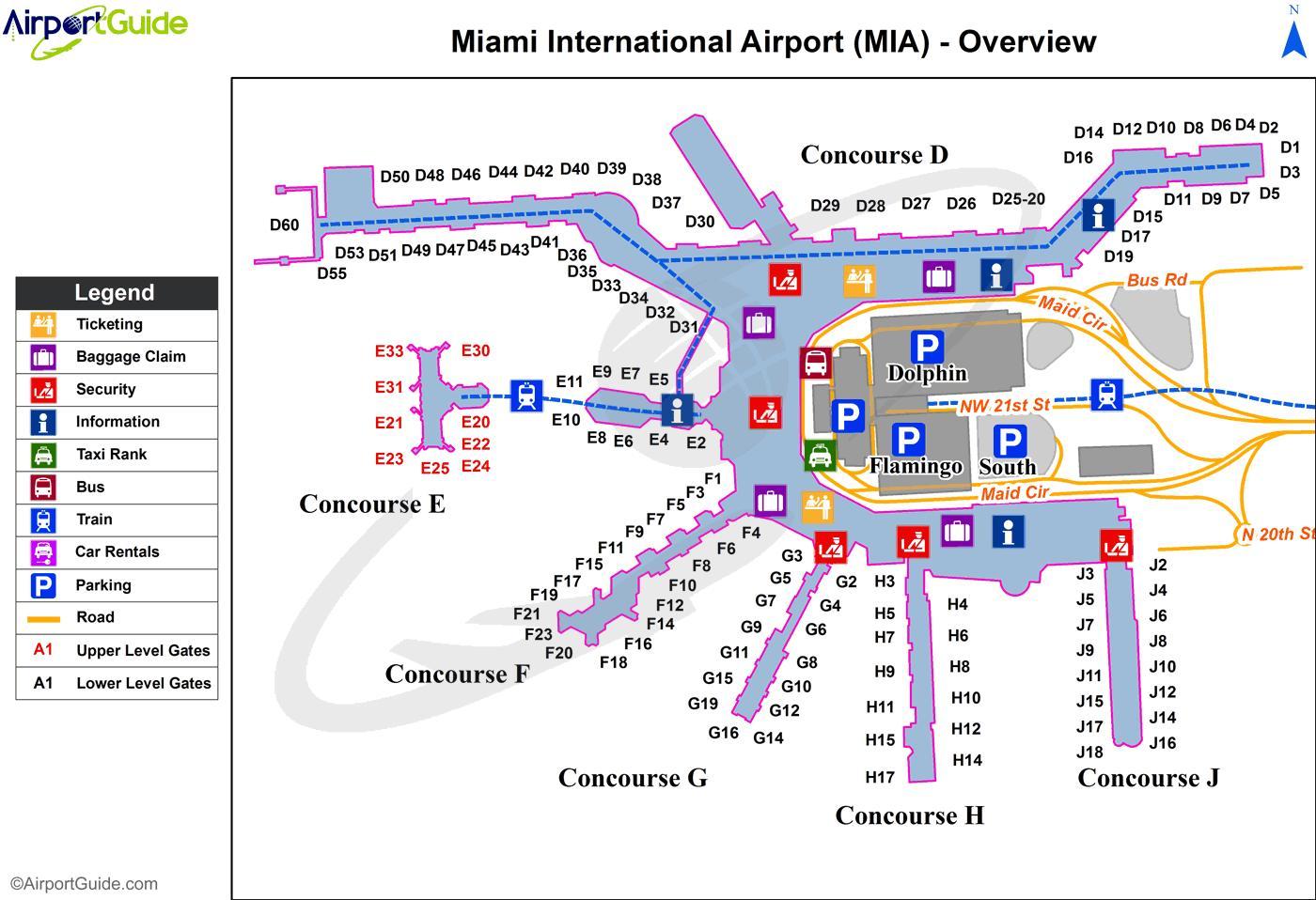 マイアミ国際空港地図-地図のマ...